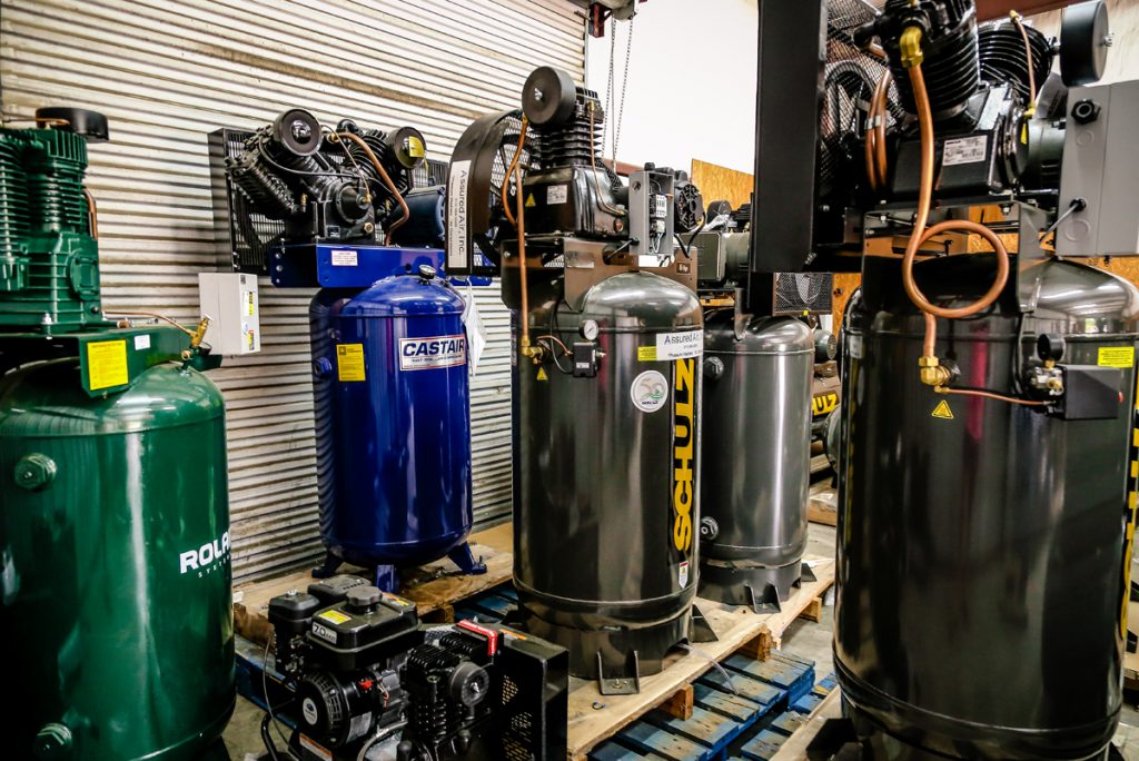 ROLAIR, CASTAIR, and Schulz Vertical Air Compressors